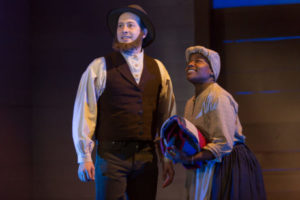 Scott R. Sheppard and Jennifer Kidwell in Underground Railroad Game at Woolly Mammoth Theatre Company