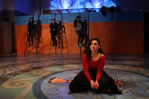 Natanya Washer (center) as Penelope Chorus in The Orphan Sea