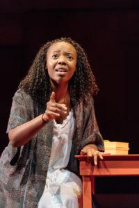 Mimi Ndiweni as Ophelia in RSC's Hamlet