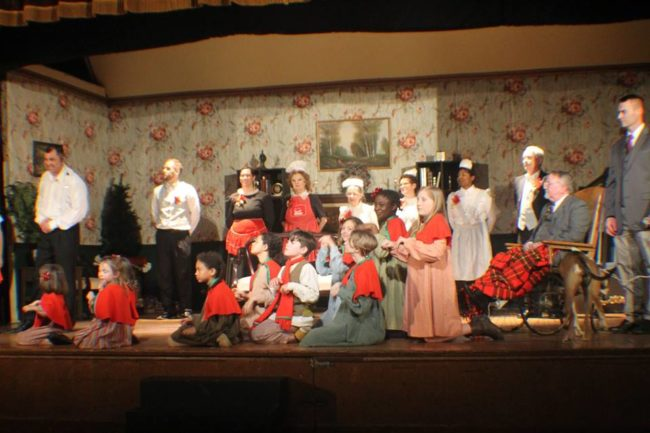 The cast of Annie at St. Gabriel Miracle Players