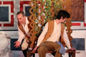 Tom Piccin (left) as Benedick and Jake Schwartz (right) as Claudio