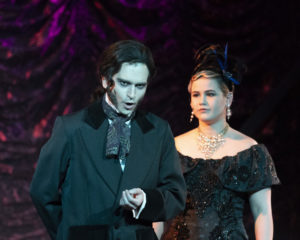 Henry Cyr (left) as Dr. Jekyll and Roni Mosco (right) as Lucy