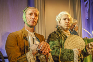 Tim Hartley (left) as Caesar Rodney and Stanton Zacker (right) as George Read