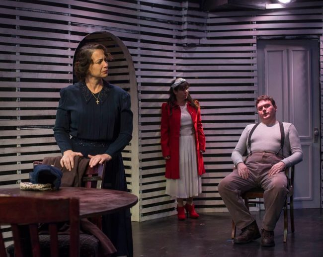 Jeanine Evans (left) as Beatrice, Karli Cole (center) as Catherine, and Jack Evans (right) as Eddie Carbone
