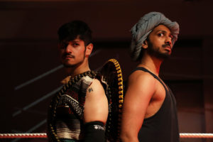 Christian Gonzalez (left) as Mace and Jehan Sterling Silva (right) as V.P.