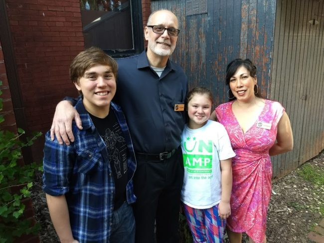 (L to R) A MET Family: Wilson Seltzer, company member Tim Seltzer, Ysa Seltzer, and company member Lia Seltzer