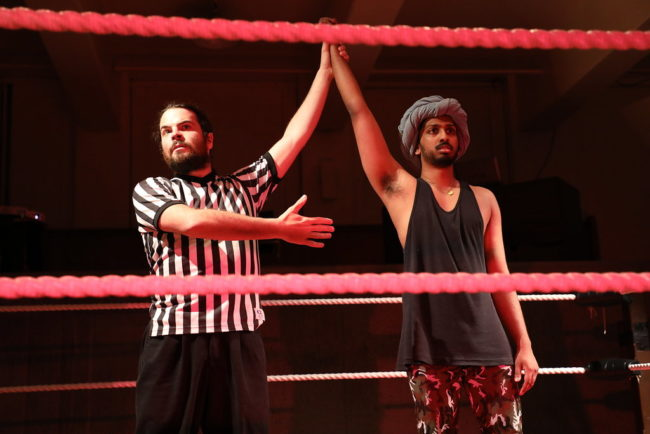 Matthew Casella (left) as Referee and Jehan Sterling Silva (right) as V.P.