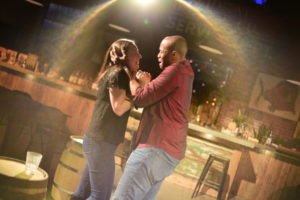 Allison Bradbury (left) as Sara and TJ Bolden (right) as Tom in Murder Ballad