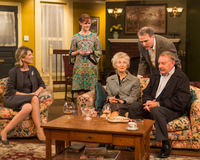 The cast of A Delicate Balance at Silver Spring Stage