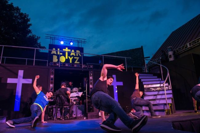 Altar Boyz at Annapolis Summer Garden Theatre with choreography by Becca Vourvoulas
