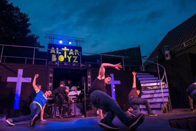 Altar Boyz at Annapolis Summer Garden Theatre with choreography by Becca Vourvoulas