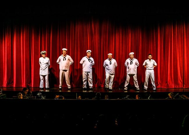 The ensemble of Anything Goes at Rockville Musical Theatre