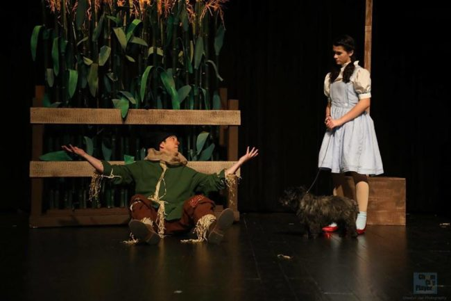 Jim Knost (left) as the Scarecrow and Heidi Thiessen (right) as Dorothy