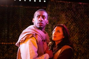 Tim German (left) as Macduff and Alani Kravitz (right) as Lady MacDuff