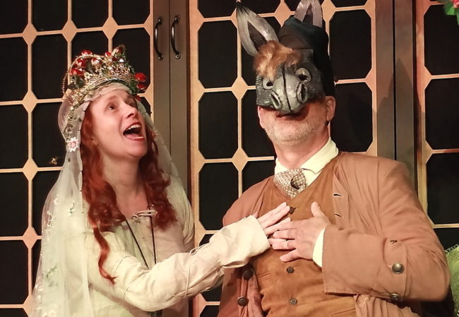 Laura Russell as Faery Queen Oonagh and David Dubov as Bottom.