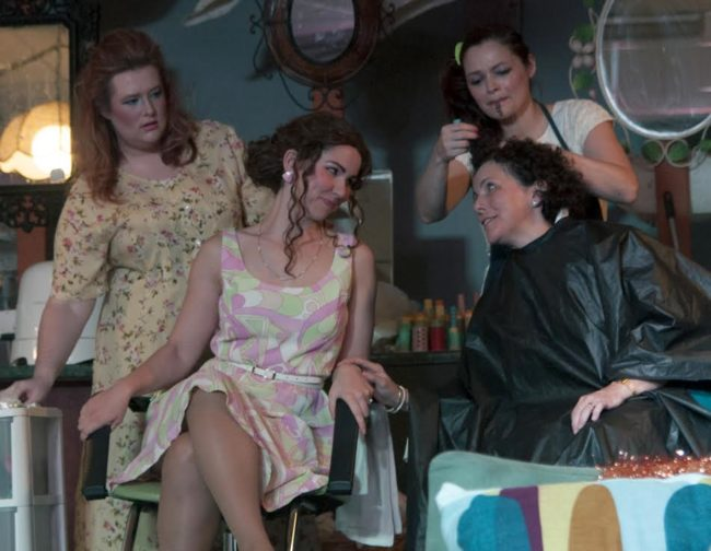 (L-R) Elizabeth A. Weiss as Truvy Jones, Jenny Madorsky as Shelby Eatenton Latcherie, Vanessa Berben as Annelle Dupuy Desoto and Allison Turkel as M'Lynn Eatenton