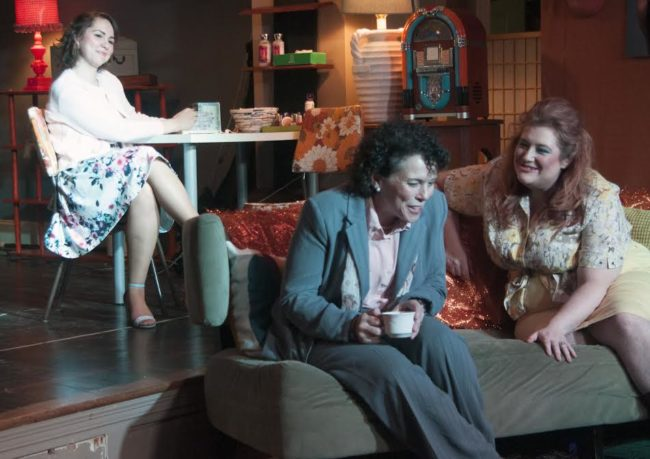 ​Jenny Madorsky (left) as Shelby Eatenton Latcherie, Allison Turkel (center) as M'Lynn Eatenton and Elizabeth A. Weiss (right) as Truvy Jones