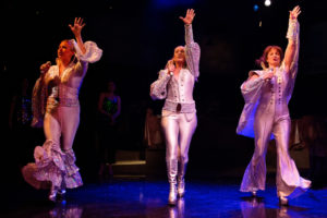 Coby Kay Callahan (left) as Tanya, Heather Marie Beck (center) as Donna Sheridan, and Tess Rohan (right) as Rosie