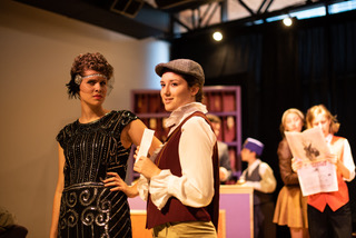 Audrey Kawecki (left) as Olivia and Alysa Fitch (right) as Viola in Twelfth Night