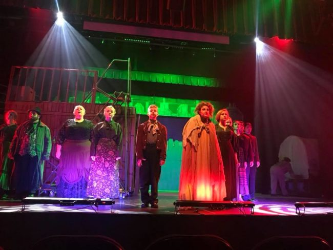 The company of Sweeney Todd at Beth Tfiloh Community Theatre