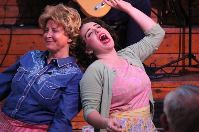 Christine E. Mosere (left) as  Louise Seger and Shelly Lynn Walsh (right) as Patsy Cline
