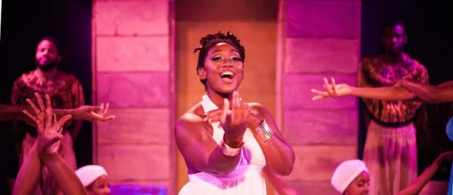 Kanysha Williams (center) as Princess Amneris in Aida at ArtsCentric
