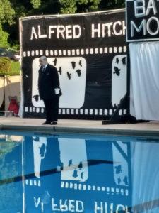 """V """"The Chameleon"""" Lee as Alfred Hitchcock"""