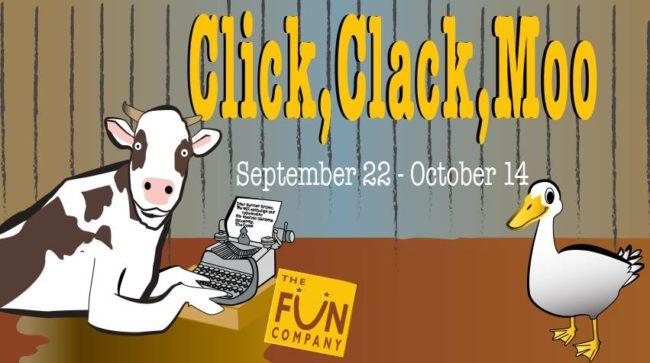 Click Clack Moo Cows That Type At Mets Fun Company Theatrebloom