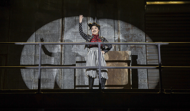 Justine Icy Moral as Pirelli in Sweeney Todd
