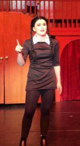 Jayne Saxon Zirkle as Wednesday Addams at Tantallon Community Players