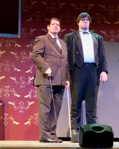 Vincent Musgrave (left) as Gomez Addams and Christopher Kabara (right) as Lurch