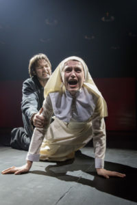Alexander Arsentyev (left) as The Duke and Anna Vardevanian (right) as Isabel in Measure for Measure