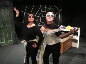 Shelly Work (left) as Miss Spink and Timothy R. King (right) as Miss Forcible