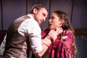 Yury Lomakin as William Mumler and Rachel Felstein as Mrs. Mumler in Summerland by Arlitia Jones.
