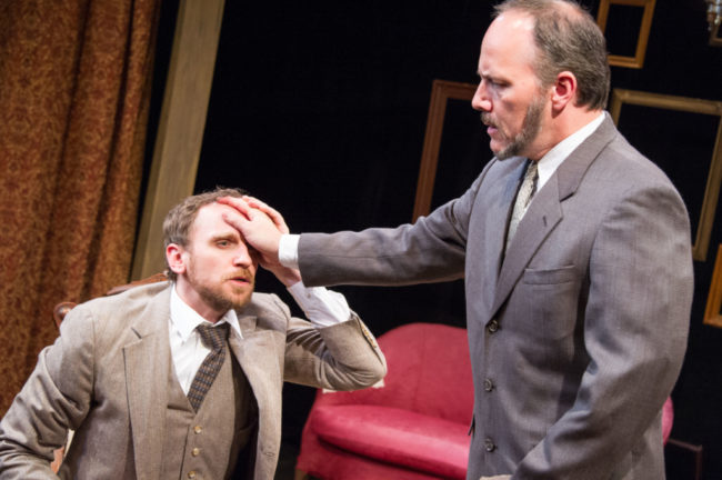 Yury Lomakin as William Mumler and Steven Carpenter as Joseph Tooker in Summerland by Arlitia Jones.