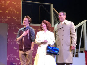 (L to R) Drew Sharpe as Lucas Beineke, Ashley Gerhardt as Alice Beineke, and Richard Greenslit as Mal Beineke