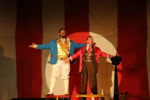 James Doggett (left) as Bailey and Matt Wetzel (right) as Barnum