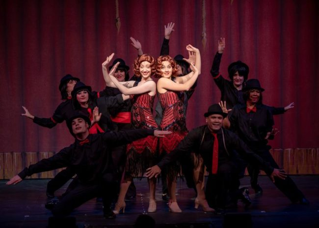 Lindsey Litka (center left) as Daisy Hilton and Ana Lane (center right) as Violet in Side Show