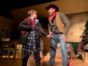 Finn Smith (left) as Ralphie and Nate Lohrmann (right) as Red Ryder