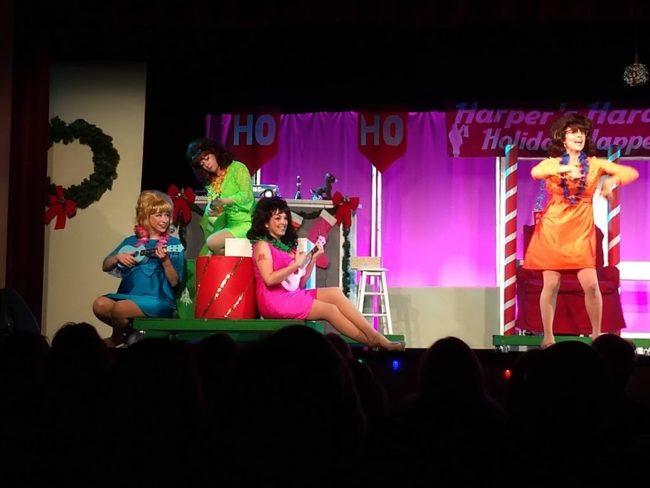 (L to R) Carly J. Amato as Suzy, Emily Machovec as Betty Jean, Natalie Knox as Cindy Lou, and Stephanie Mahoney as Missy in Winter Wonderettes