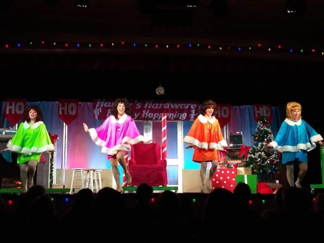 (L to R) Emily Machovec as Betty Jean, Natalie Knox as Cindy Lou, Stephanie Mahoney as Missy, and Carly J. Amato as Suzy in Winter Wonderettes