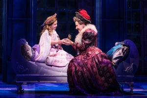 Victoria Bingham (left) as Little Anastasia and Joy Franz (right) as Dowager Empress in the National Tour of Anastasia