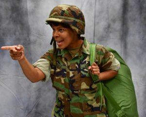 "Steele (Jaharri): ""Get in line, soldier!"""