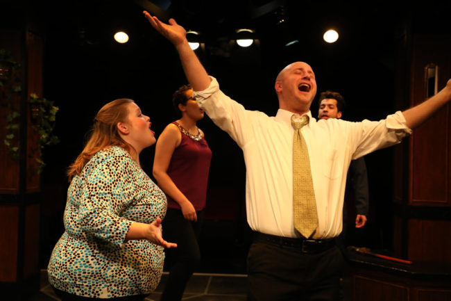The company of Songs For A New World at Spotlighters Theatre