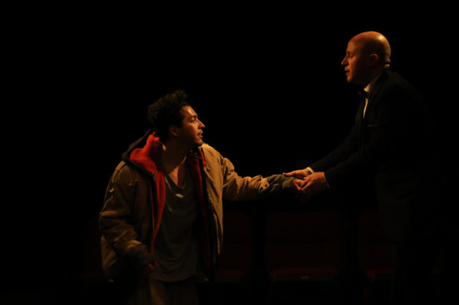Luis Matty Montes (left) as Andrew Worthington (right) in Songs For A New World