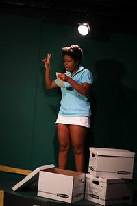 Christine Canady as Althea Gibson in Running on Glass by Cynthia Cooper