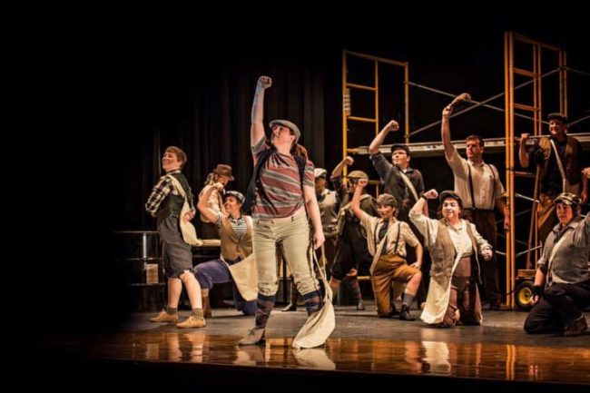 The cast of Newsies at Street Lamp Productions