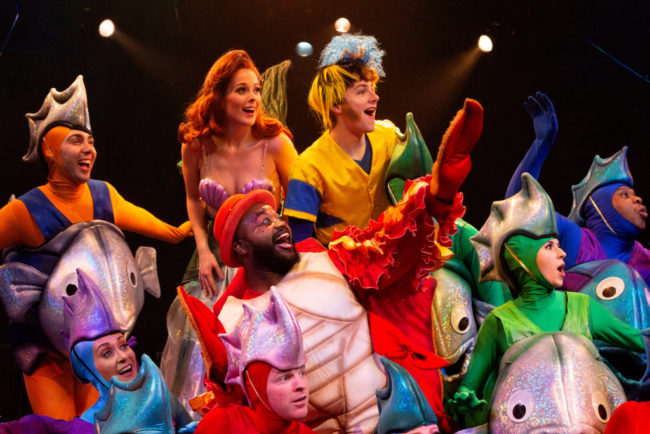 The cast of Disney's The Little Mermaid at Toby's Dinner Theatre