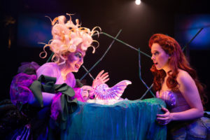 Lynn Sharp Spears (left) as Ursula and Abby Middleton (right) as Ariel