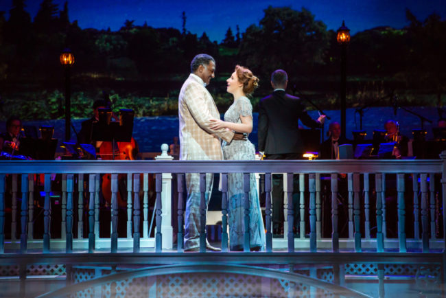 Norm Lewis (left) as Prof. Harold Hill and Jesse Mueller (right) as Marian Paroo in The Music Man Photo: Jeremy Daniel